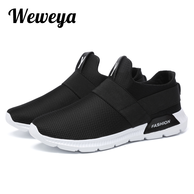 Weweya Men Shoes Sneakers Mesh Tenis Masculino Man Outdoor Footwear Krasovki Slip On Male Shoes Adulto Zapatos Hombre Size 39-46