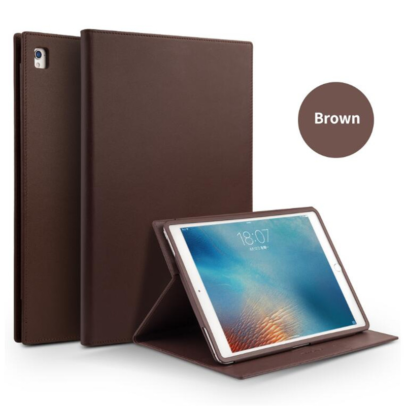 QIALINO Genuine Leather Bag Ultrathin Case for iPad Pro 9.7 Case Flip Stents Dormancy Stand Cover Card Slot case for iPad air2 logitech ultrathin keyboard cover for ipad air2 space grey 920 006532