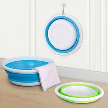 Travel Portable washbasin / creative folding outdoor travel silicone thickening wash basin