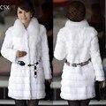 Mulheres Faux Fur casaco de inverno feminino preto longo estilo grosso outono & inverno largo de cintura mangas compridas casaco de pele 2 cores S-XL 31