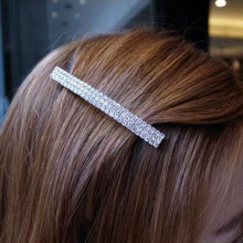 Fashion Women Girls Glitter Crystal Rhinestone Hair Clip Barrette Luxury Bling Hairpins Party Accessories