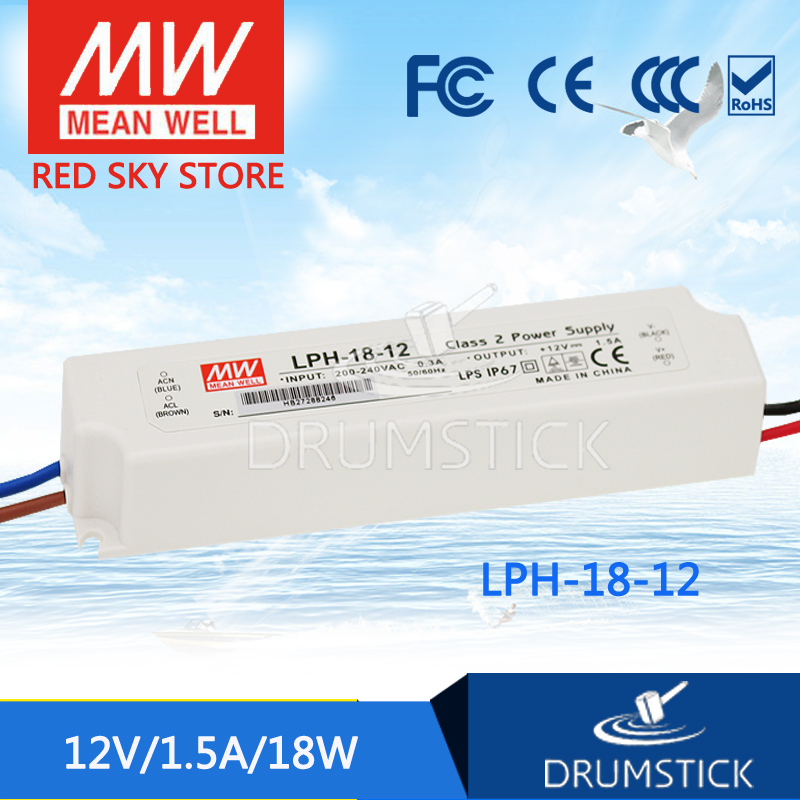 Steady MEAN WELL LPH-18-12 <font><b>12V</b></font> <font><b>1.5A</b></font> meanwell LPH-18 <font><b>12V</b></font> 18W Single Output LED Switching <font><b>Power</b></font> <font><b>Supply</b></font> image