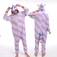 2019 Winter Animal Kugurumi Women Pajamas Onesies Unisex Hooded Sleepwear Flanne
