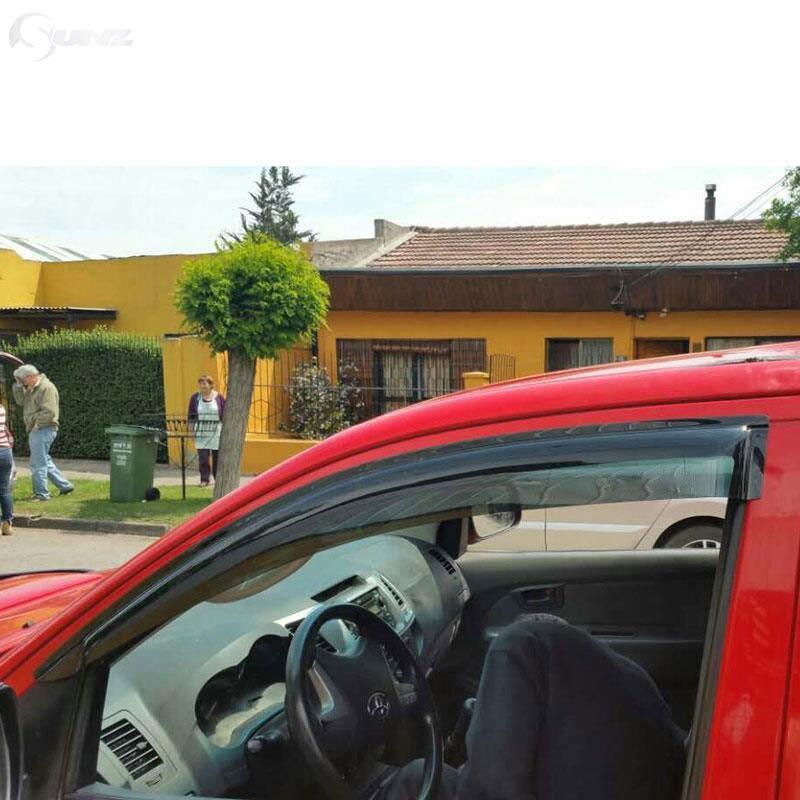 Déflecteur de Vent de voiture noir déflecteur de fenêtre de voiture pare-pluie pour Toyota Hilux Vigo 2005-2014 - 3