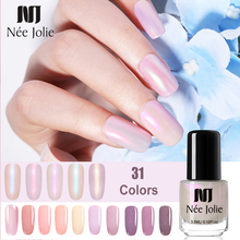 NEE JOLIE 3.5ML Shell Nail Art Polish Candy Nude Color Quick-drying Pink Glimmer Lacquer 31 Environmental Protection
