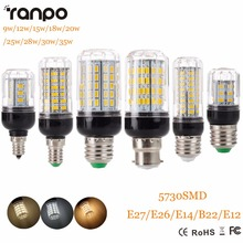 E27 E14 220 V LED Lamp 5730 SMD LED Corn Bulb Lampada Ampoule chiếu sáng 24 27 30 36 59 69 72 Leds Đèn Bombillas Ánh Sáng bóng đèn