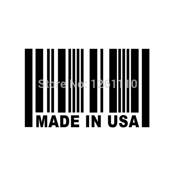 Aliexpress com buy made in usa barcode sticker jdm reflective vinyl decal sticker great for your car truck window bumper from reliable vinyl decals