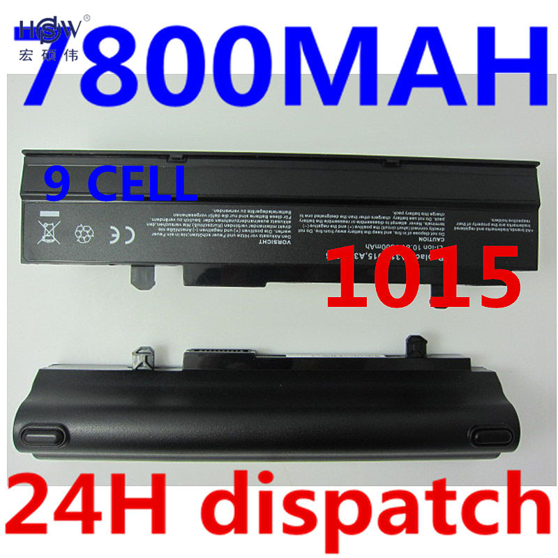 HSW 7800mAH Laptop battery For Asus Eee PC VX6 1011 1015 1015P 1015PE 1016 1215N 1215B A31-1015 A32-1015 AL31-1015 PL32-1015