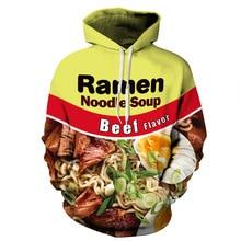 """Ramen noodles"" hoodies Hip Hop streetwear lil peep hooded Sweatshirt men women Xxxtentacion hooded pullover harajuku Hoodie"