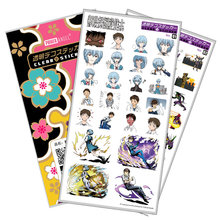 Evangelion EVA Sticker Anime Stickers Waterproof Plastic Transparent Decal Toy Stiker For Phone Laptop Book