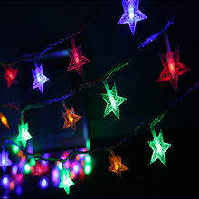 EU Plug LED Light String RGB Decoration Gift LED Star Light Christmas Tree Decoration Light String Light Strip