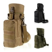 Outdoors Sports Tactical Molle Gear Zipper Water Bottle Pouch Kettle Waist Shoulder Bag High quality