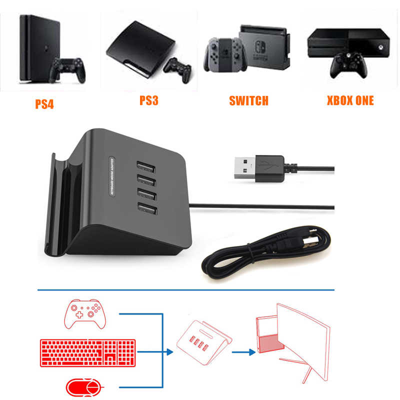 KMAX1 Game Controllers Adapter Converter Video Game Keyboard