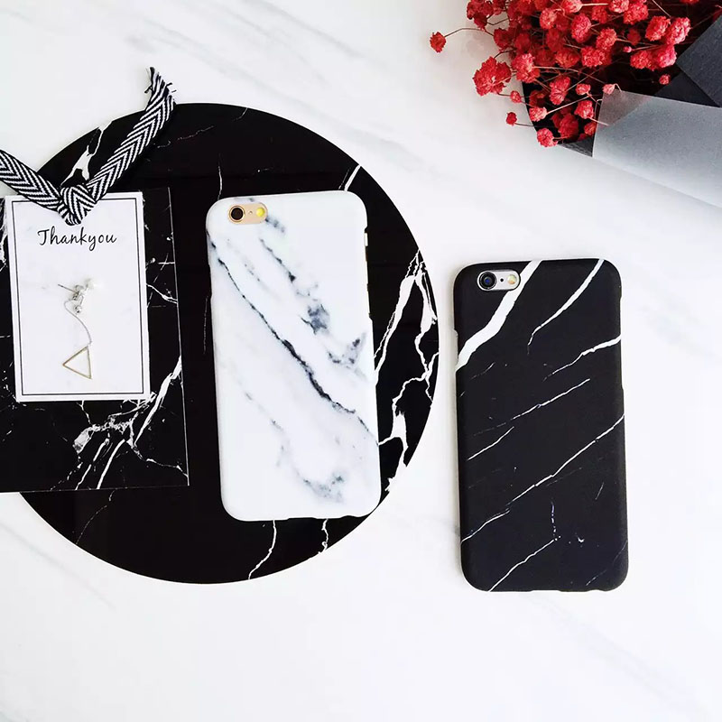 Hard Plastic Phone Cases For iPhone 7 7 Plus 6 6s Plus Marble Stone Image Painted Back Cover Fundas Capa