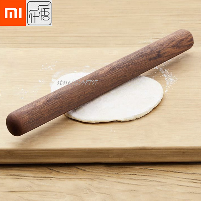 Xiaomi Mijia YWYS 32mm Kitchen Wooden Rolling Pin Fondant Cake Decoration Dough Roller Baking Cooking Tools Accessories