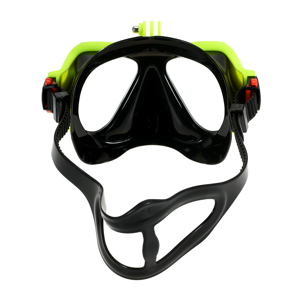 Snorkeling Combo Set Anti fog Goggles Mask Snorkel Tube Fins Swimming Scuba Diving Travel Snorkeling Goggles with Gear Bag-in Diving Masks from Sports & Entertainment    3