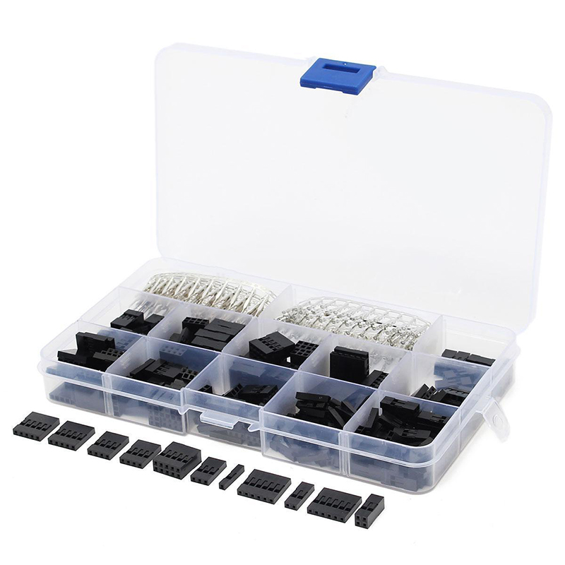 420pcs Male/Female Crimp Pins Connectors Terminals Dupont Jumper Pin Wire Cable Housing Header Kit with Box 620pcs dupont wire cable jumper pin header connector housing kit male crimp pins female pin connector terminal pitch with box