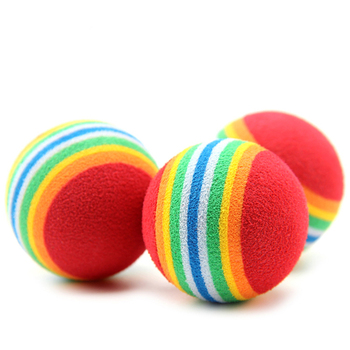 20Pcs Mini Cute Dog Puppy Pet Toy Popular Rainbow Colorful Rubber Ball Pet Product Small Dog Puppy Play Chew Treat Ball Toys 1