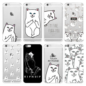 NIKIKI Funny interesting Pocket Cat Soft Silicon Transparent TPU Phone Case Cover For iPhone 7 6 6s 8 Plus X 5S SE Coque Fundas marvel glass iphone case