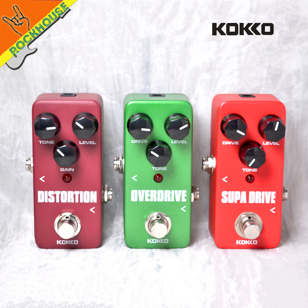KOKKO Guitar Blues Overdrive Pedal Tube Distortion Effects Pedal Guitarra Drive Booster Rock Style True Bypass Free Shipping