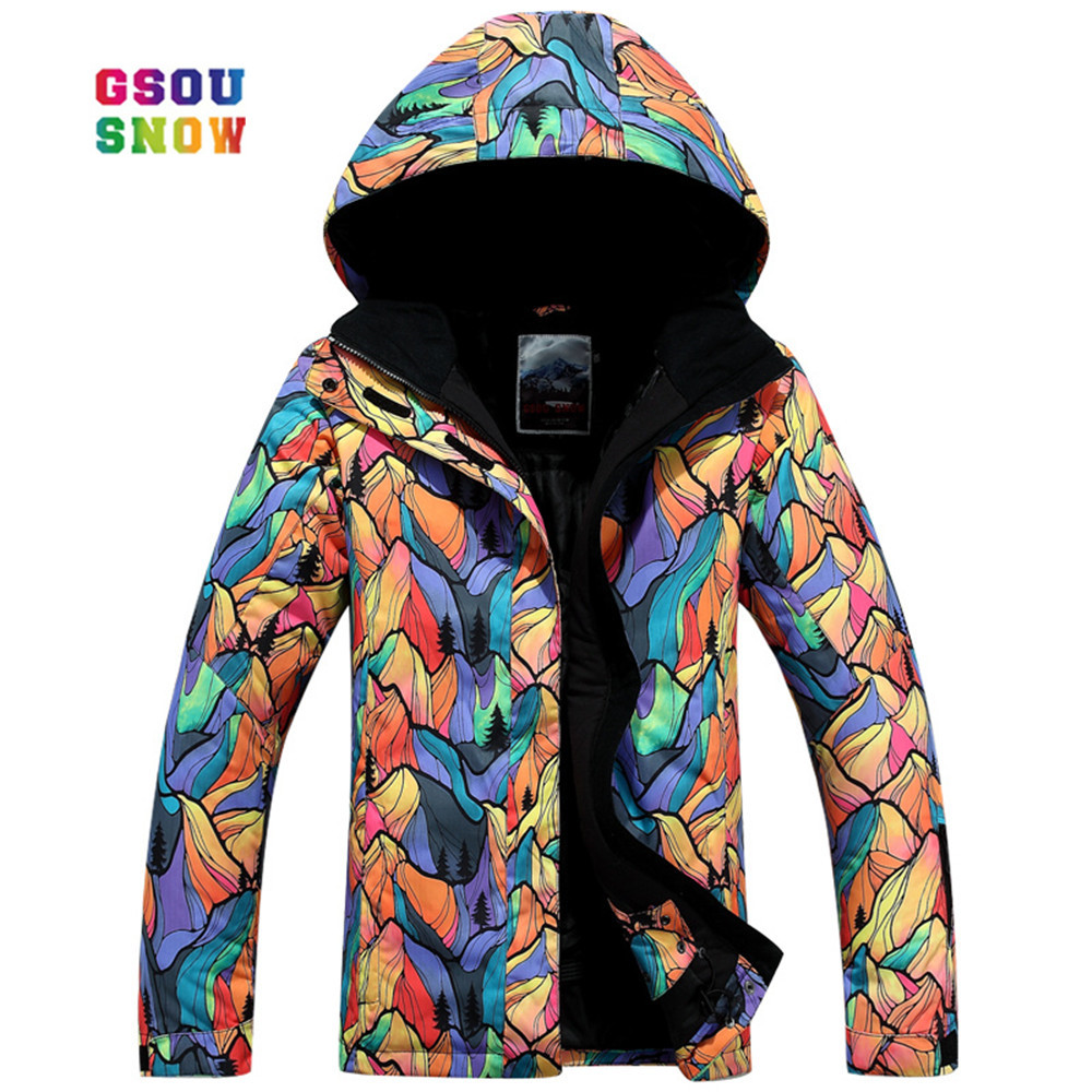 GSOU SNOW New Ski Jacket Women Anti-pilling Snowboard Coats Waterproof Fashion Windproof Female Breathable Anti-shrink Clothes 2018 summer new girls clothing lace mesh splicing baby dresses for girl party princess dress fashion petal kids girls dresses page 2