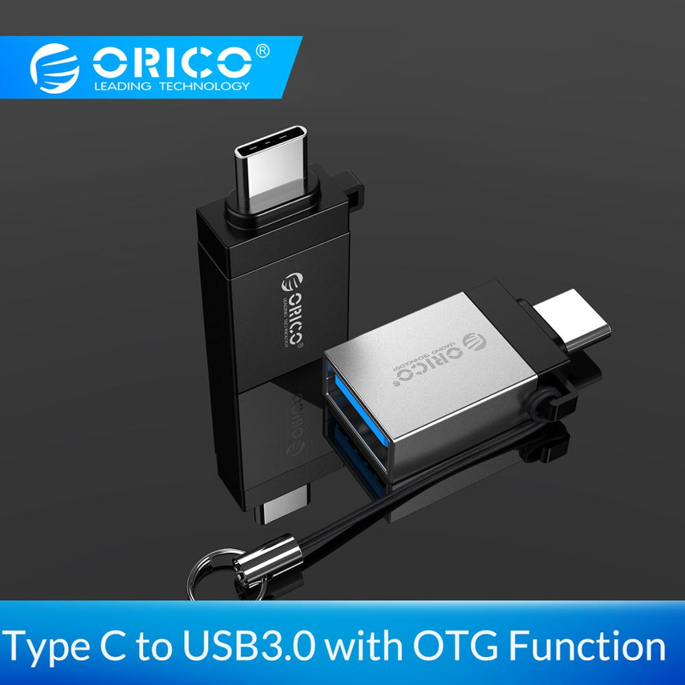 ORICO OTG Adapter Type C(M) To USB 3.0 (F) Convertor USB3.0 5Gpbs Transmission Rate Anti-lost Lanyard Design For Phone Tablet