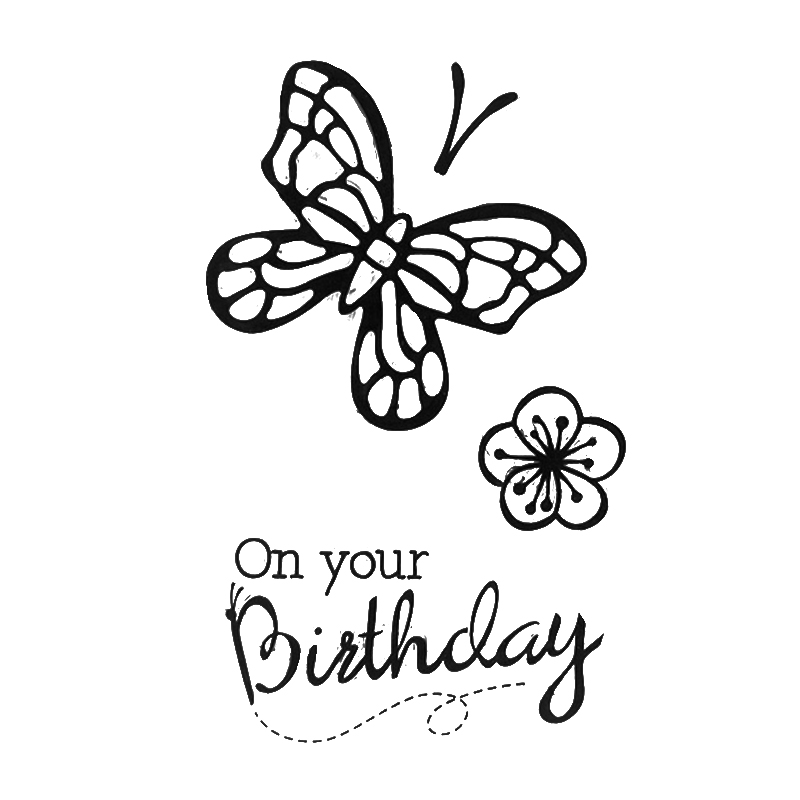 Cute Butterfly On Your Birthday Transparent Clear Rubber Stamps Stencils Scrapbooking Photo Album Embossing Cards Decor Supplies