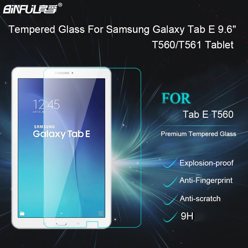 Galleria fotografica BINFUL New Arrival 9H Premium Tempered Glass Screen Protector For Samsung Galaxy Tab E 9.6 T560 T561 Protective Film