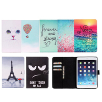 Fashion Tower Owl Cat Series Style Printed Stand Flip Pu Leather Case For IPad Air2 With