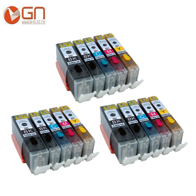 GN PGI550 550XL CLI551 551XL картридж со съедобными чернилами для Canon PIXMA MG5650 MG6350 MG6450 MG6650 MG7150 MG7550 MX725 MX925 принтер