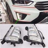 2Pcs White LED Daytime Running Light DRL Front Fog Lamp For Hyundai IX25 2014 16