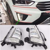 2Pcs White LED Daytime Running Light DRL Front Fog Lamp For Hyundai IX25 2014 16