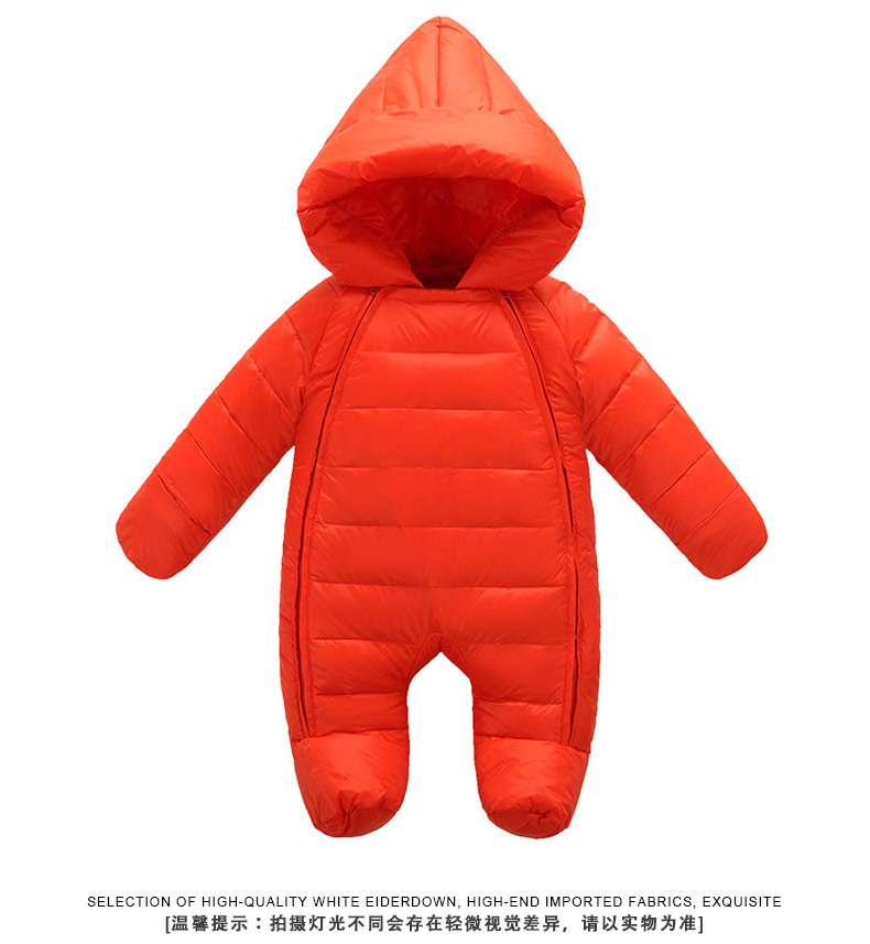 (XYF)2018 Fashion Baby Clothing Winter Russia Boys Girls Rompers Thick Duck Warm Clothing Children Bodysuit Fashion New Style 30 degree russia winter warm baby shoes fashion waterproof children s shoes girls boys boots perfect for kids accessories