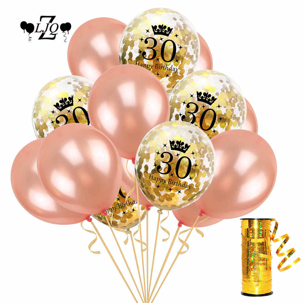 Detail Feedback Questions About ZLJQ 30th 40th 50th Birthday Decoration Party Supplies 30 Year Old Balloon Rose Goldconfetti Foil Tassel