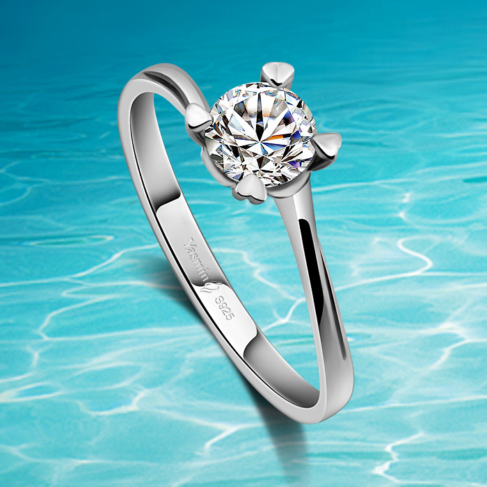 New fashion style for girls new jewelry ring,fashion 925 solid genuine sterling silver rings for girls;noble & elegant