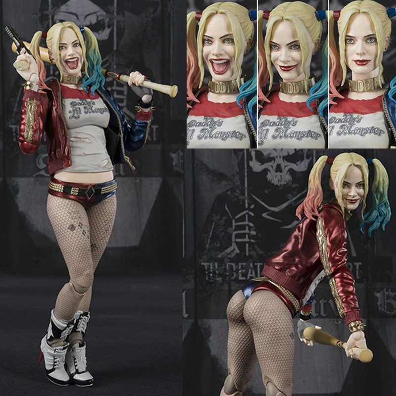 SHF DC Esquadrão Suicida Harley Quinn Figuras de Ação Boneca Brinquedos para Presente de Natal Dia Das Bruxas