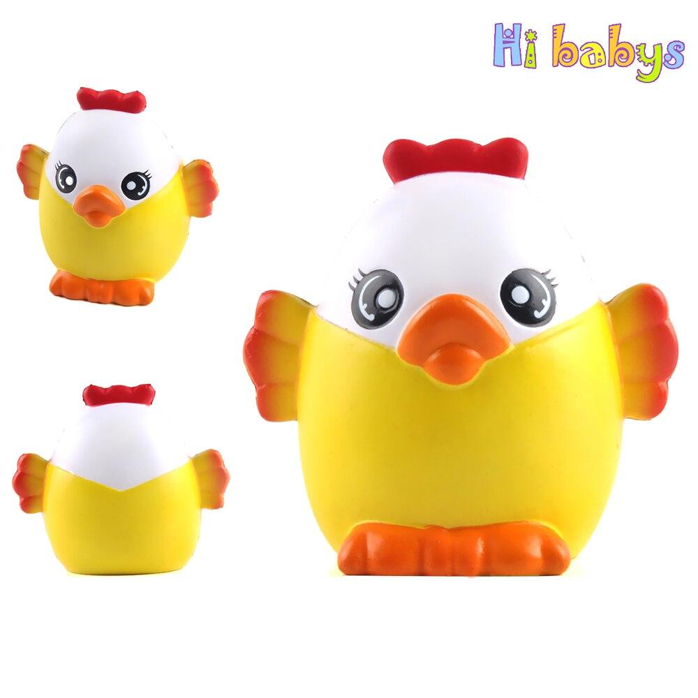 Huhn Squishy Smooshy Matschig Squeeze Spielzeug Küken Schleim Squishy Jumbo Antistress Zerquetscht Spielzeug Langsam Steigenden Kinder Lustige Geschenk