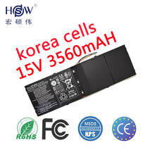 HSW Laptop Battery for Acer Aspire R7 M5-583p Series Ap13b3k Ap13b 4lcp6/60/80 3560mah 15v bateria akku