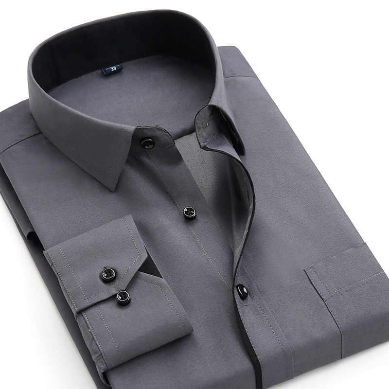 Camisas estampadas con mangas largas informales Para Hombre 2019, Camisas ajustadas Para Negocios Sociales, Camisas de marca Para Hombre