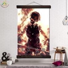 Tokyo Ghoul Anime Single Framed Scroll Painting Modern Canvas Art Prints Poster Wall Pictures for Home Decor