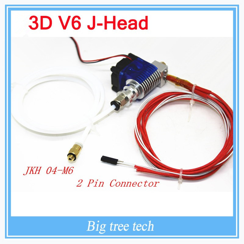 3D-V6 HotEnd Full Kit - 1.75mm  0.2mm/0.3mm/0.4mm/0.5mm of nozzles 12V Bowden for RepRap  3D Printer Extruder j-head