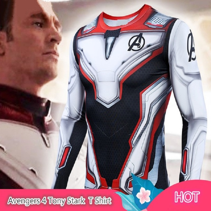 Men's Marvel Superhero Tights Long Sleeve Shirt Batman Superman Captain America The Flash 3D Fitness MMA UFC Rashguard T Shirt