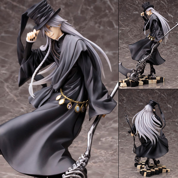ФОТО Anime Black Butler Under Taker Book of Circus PVC Figure Collectible Model Toy 25cm