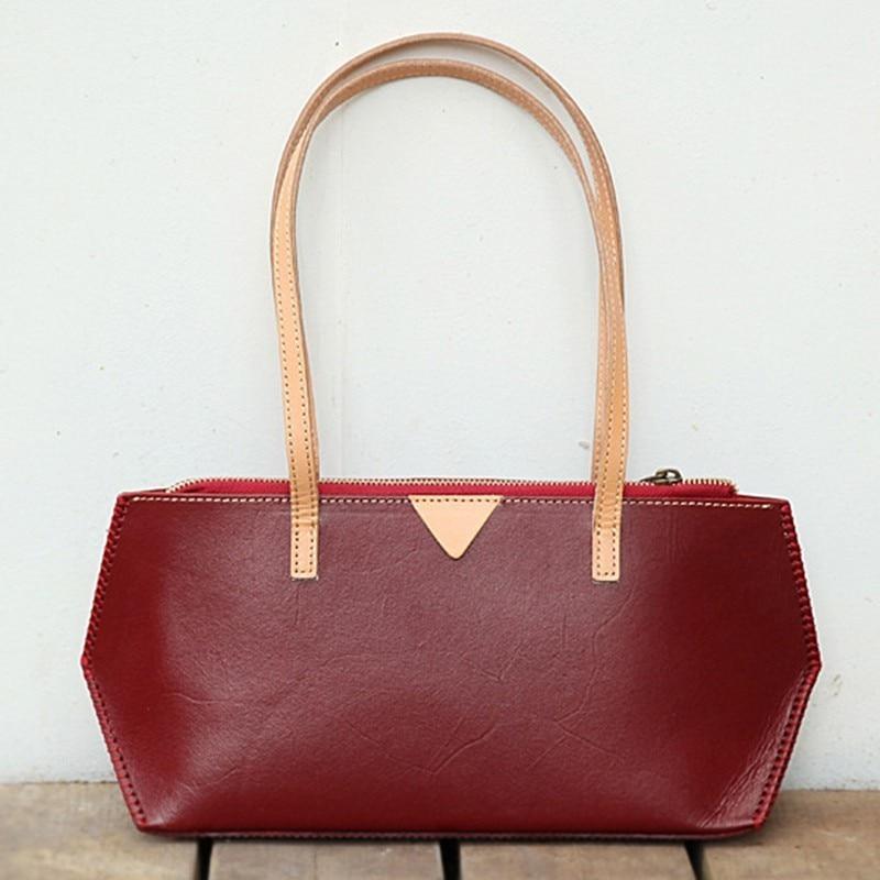 New Shoulder Bag Women Bags Designer Luxury Handbags Genuine Leather Vegetable Tanned Skin Women Bag Sac A Main Bolsa Feminina