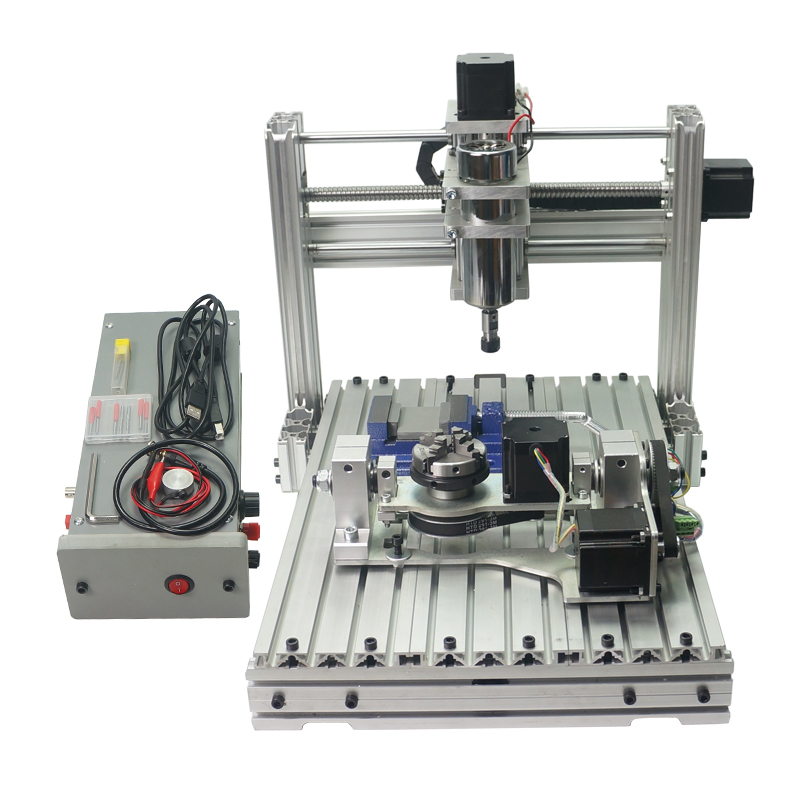 YOOCNC 400W wood router cnc 3040 PCB engraving machine with cutter collet clamp