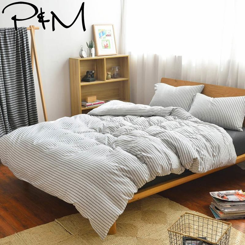 Bedding Papa&mima Knitted Cotton Bedding Set Soft Bed Linen For 150x200cm 180x200cm Bed Complete In Specifications