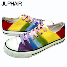JUP Shoes Mens Males men's Boys Hand-painted Flats Shoes Platform Galaxy Colorful Footwear Mens Shoes Sales Chaussure Homme Max