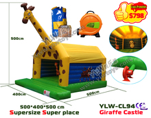 Giraffe Inflatable Bouncer,inflatble castle toy game,inflatable trampoline