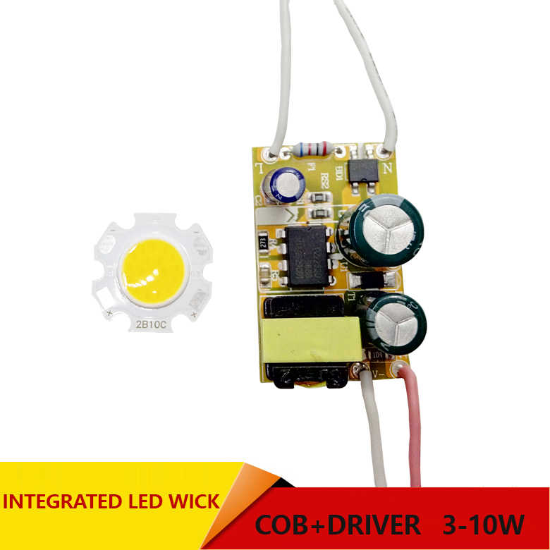 3 W 5 W 7 W 10 W COB LED + driver power supply built-in arus konstan Pencahayaan 85-265 V Output 300mA Transformator DIY tinggi brightnes