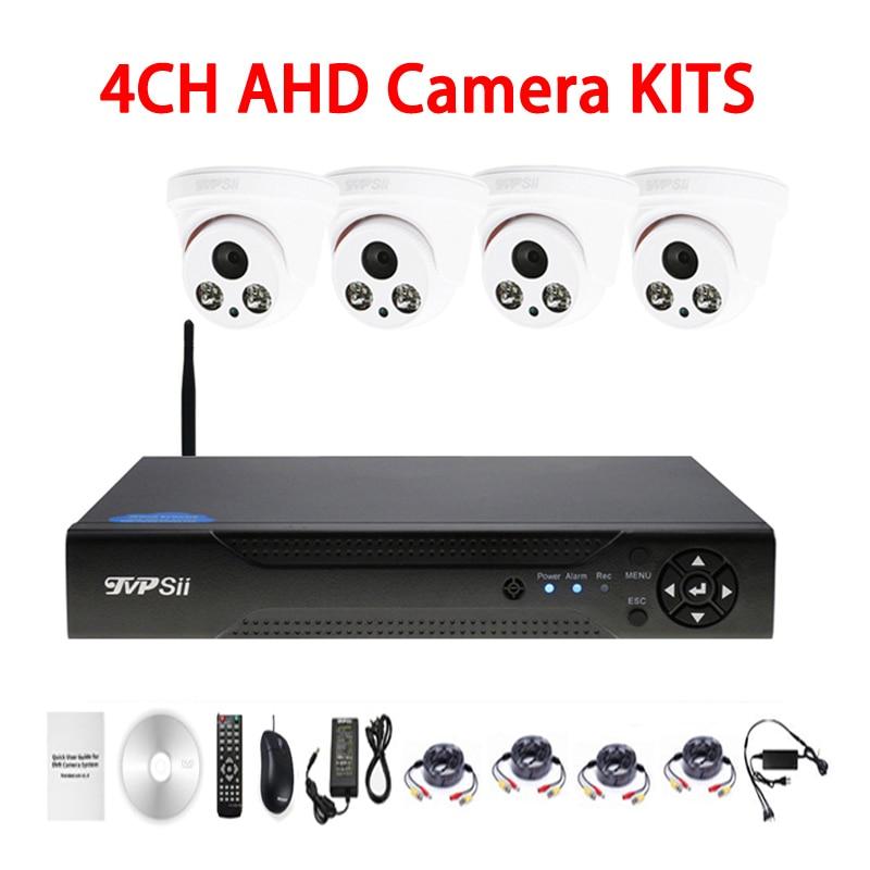 Deux Tableau Led infrarouge 5mp/4mp/2mp/1mp Intérieure 4CH 4 Canaux WIFI AHD CCTV DVR Surveillance Caméra de sécurité Kits